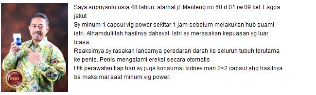 testimoni vig power